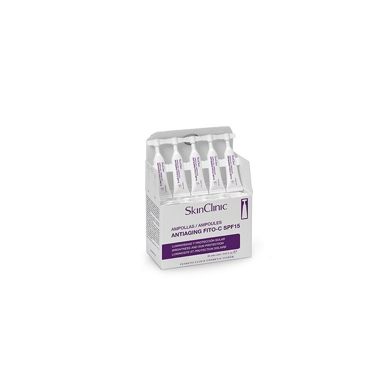 Caja Ampollas Antiaging FITO-C SPF15 ( 10 o 30 Ampollas de 2ml.)